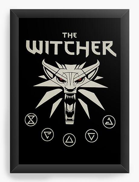 Quadro Decorativo A4 (33X24) The Witcher