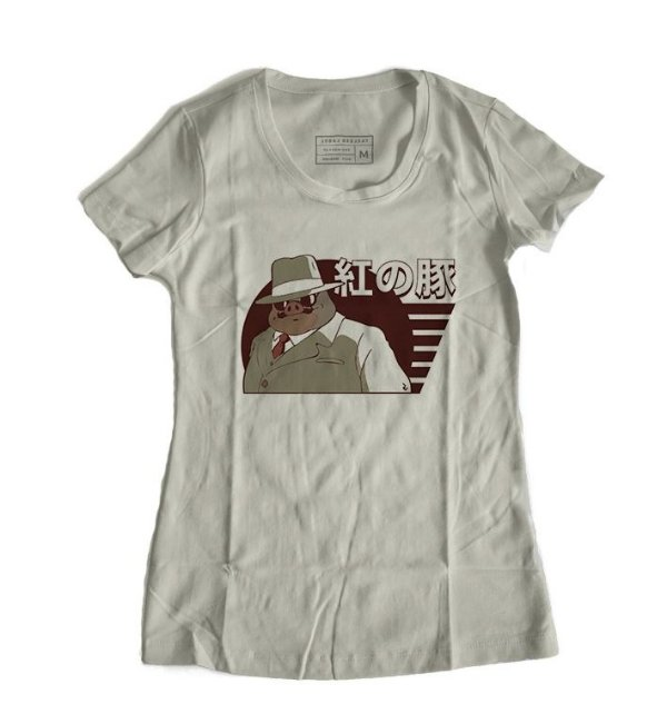 Camiseta Feminina Anime Porco Rosso