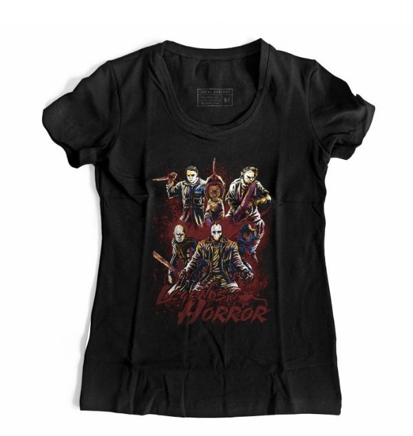 Camiseta Feminina Horror