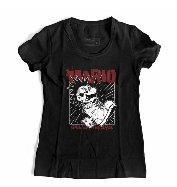Camiseta Feminina Mario Punk