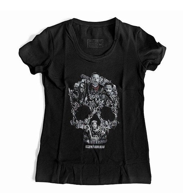 Camiseta Feminina  Série The Walking Dead