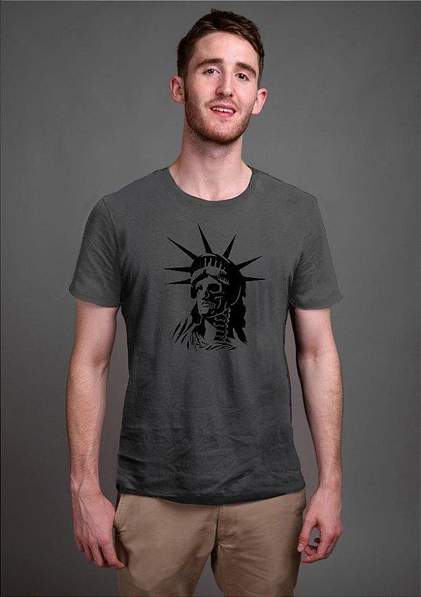 Camiseta Masculina Estatua Skull