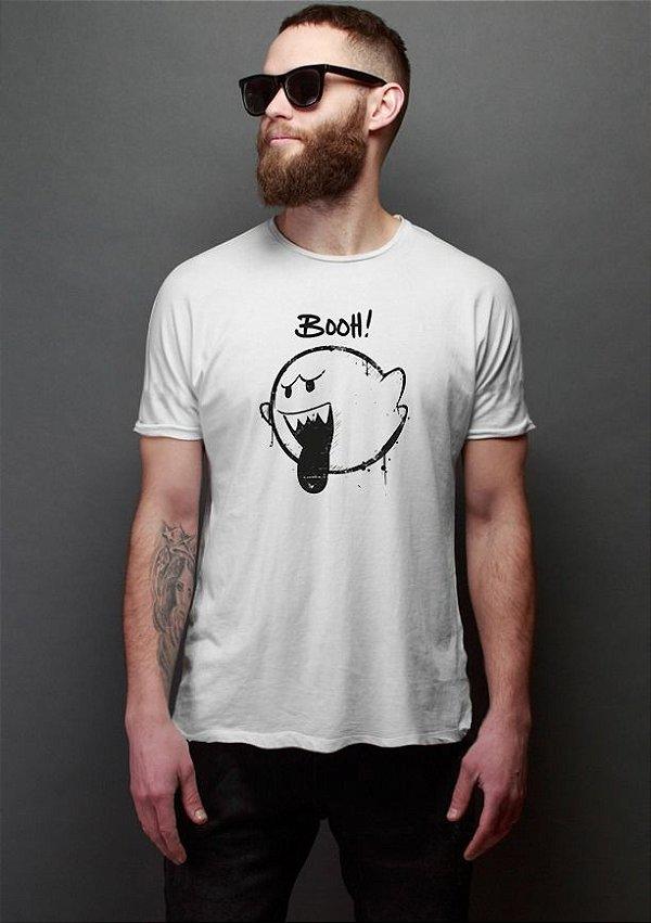 Camiseta Masculina Fantasma Mario Bros