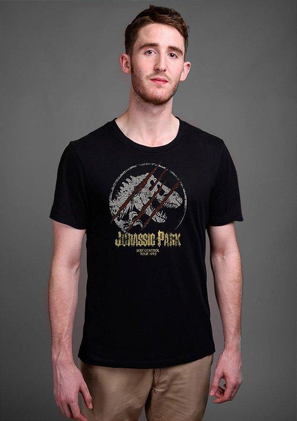 Camiseta Masculina Jurassik Park