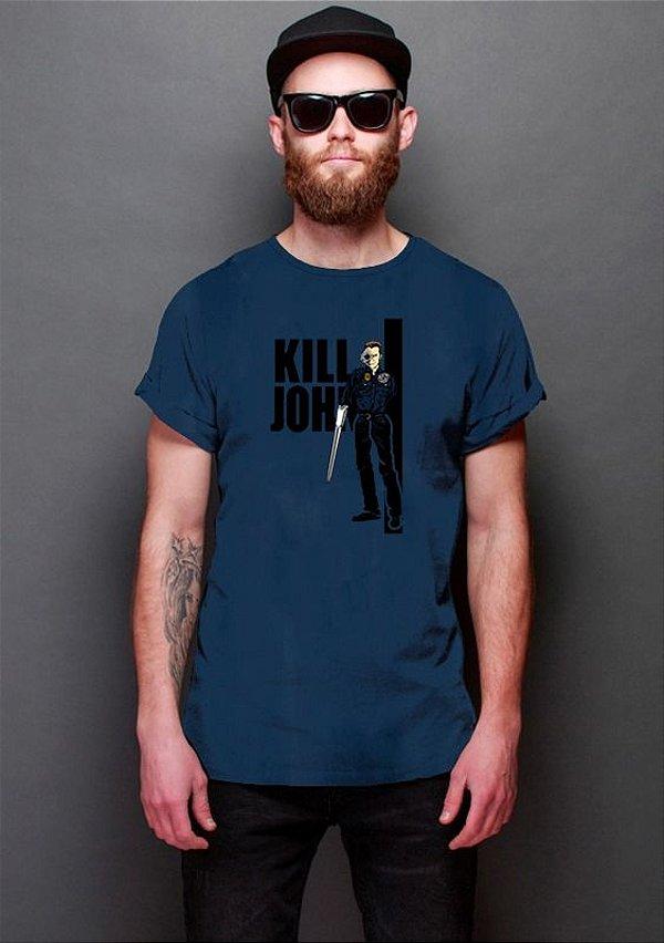 Camiseta Masculina Kill John, Exterminador do Futuro