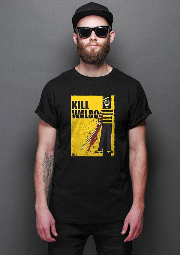 Camiseta Masculina Kill Waldo Wally