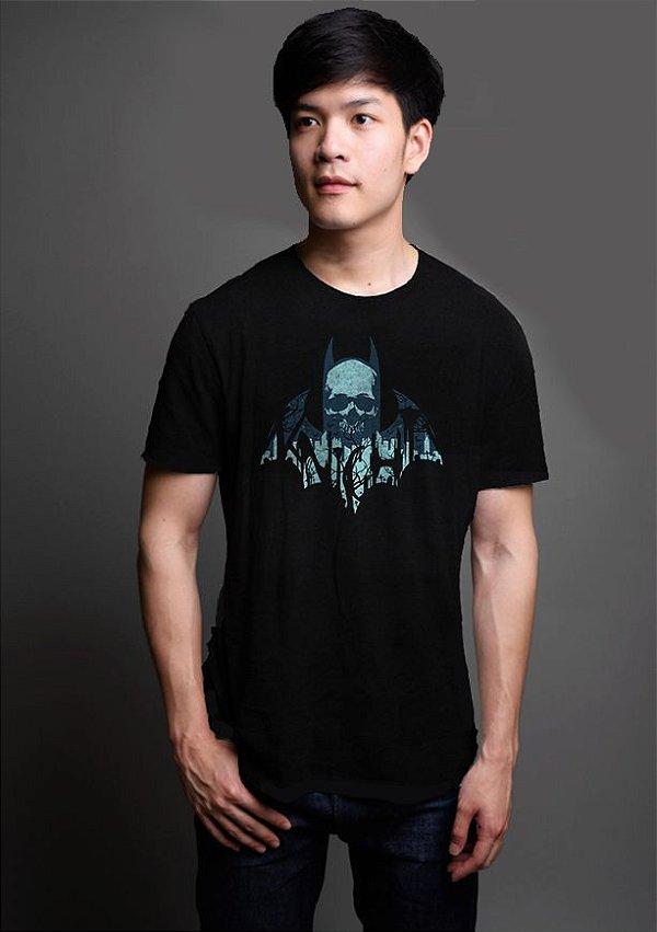 Camiseta Masculina Morcego Skull