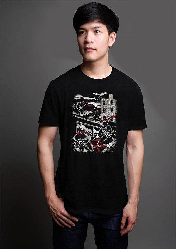 Camiseta Masculina Tartaruga Ninja