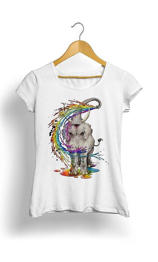 Camiseta Colorful Elephant