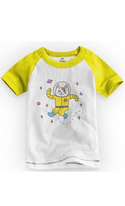 Camiseta Infantil Space Cat - Nerd e Geek - Presentes Criativos