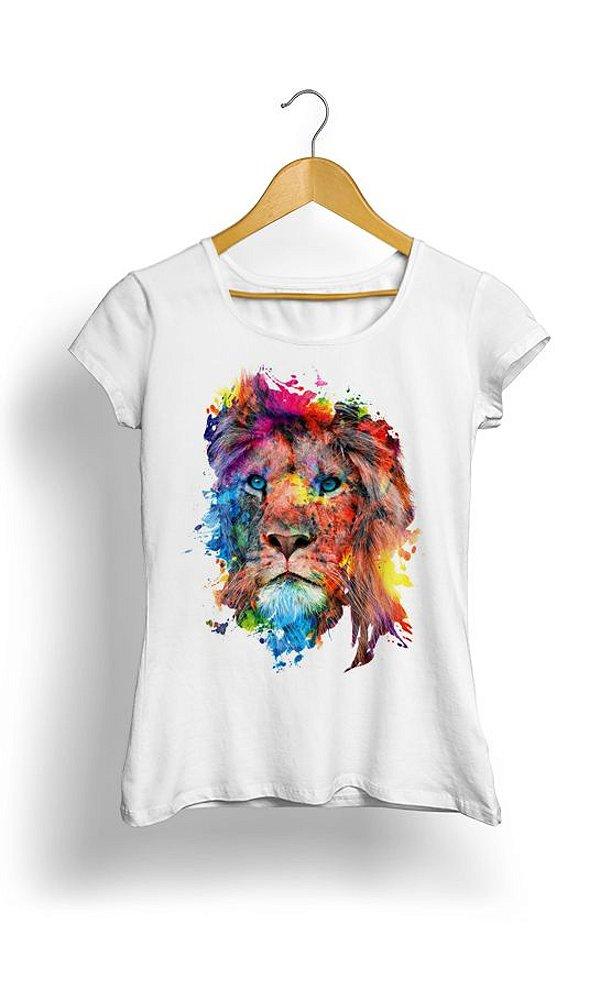 Camiseta Leão em Aquarela
