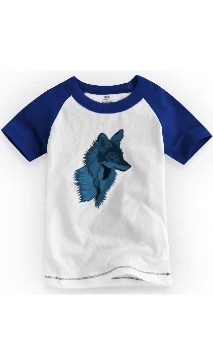 Camiseta Infantil Fox Blue