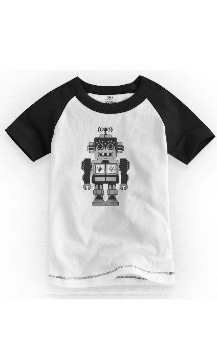Camiseta Infantil Robô - Nerd e Geek - Presentes Criativos