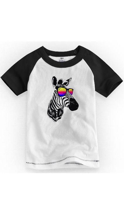 Camiseta Infantil Zebra Style