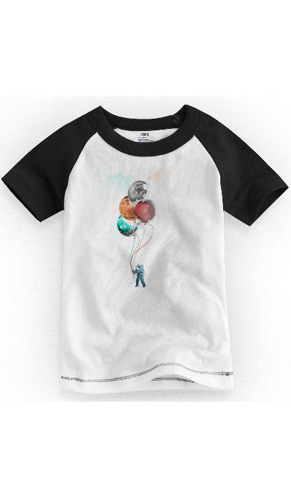Camiseta Infantil Astronauta Word - Nerd e Geek - Presentes Criativos