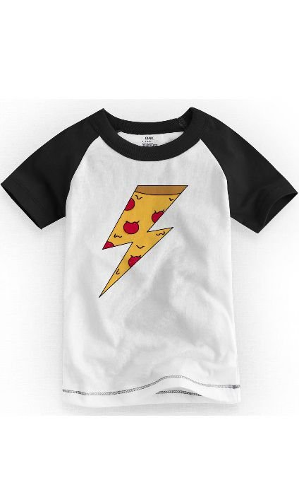 Camiseta Infantil Pizza Raio - Nerd e Geek - Presentes Criativos