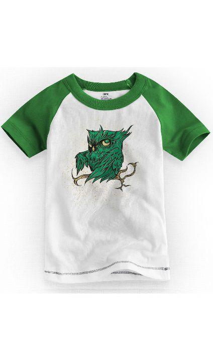 Camiseta Infantil Coruja Green
