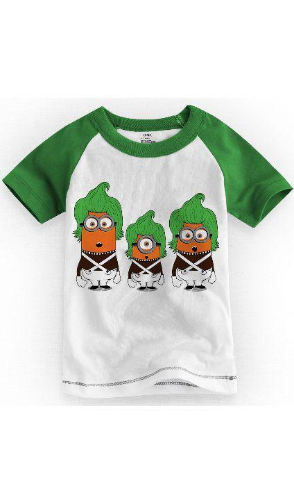 Camiseta Infantil Minions Green