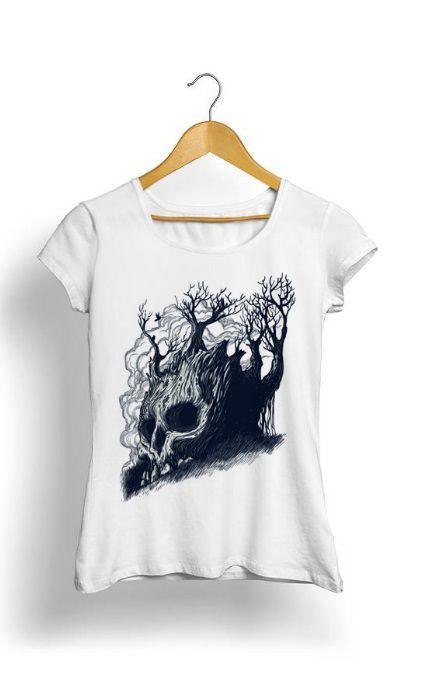 Camiseta Feminina Tropicalli Caveira