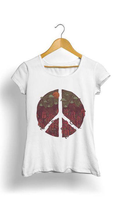 Camiseta Feminina Tropicalli Peace