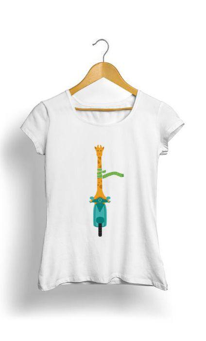 Camiseta Feminina Tropicalli Giraffa