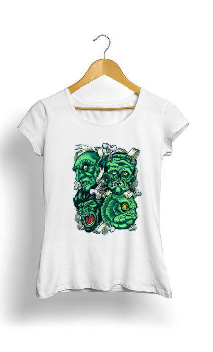 Camiseta Feminina Tropicalli Frankenstein