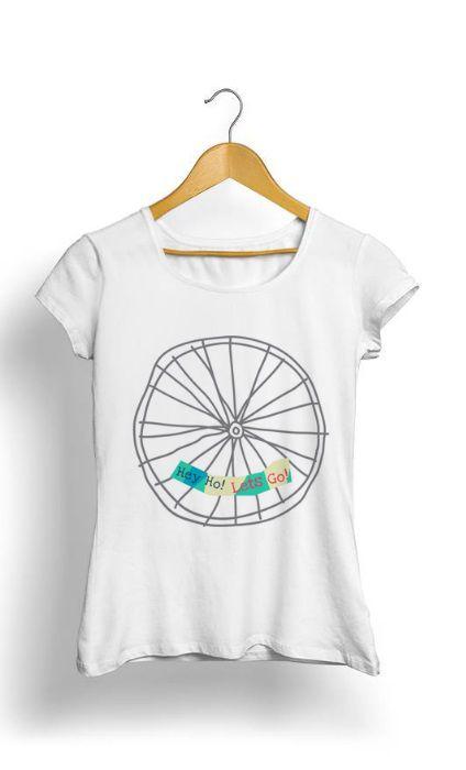 Camiseta Feminina Tropicalli Bicycle Wheel Doodle