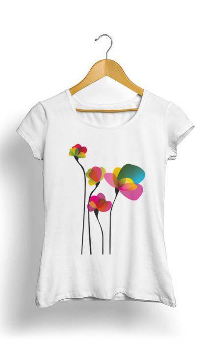 Camiseta Feminina Tropicalli Flores