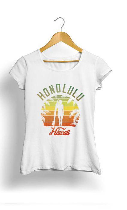 Camiseta Feminina Tropicalli Honolulu