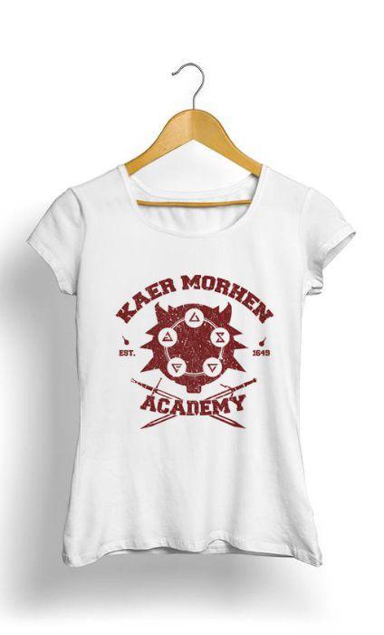 Camiseta Feminina Tropicalli Kaer Morhen Academy