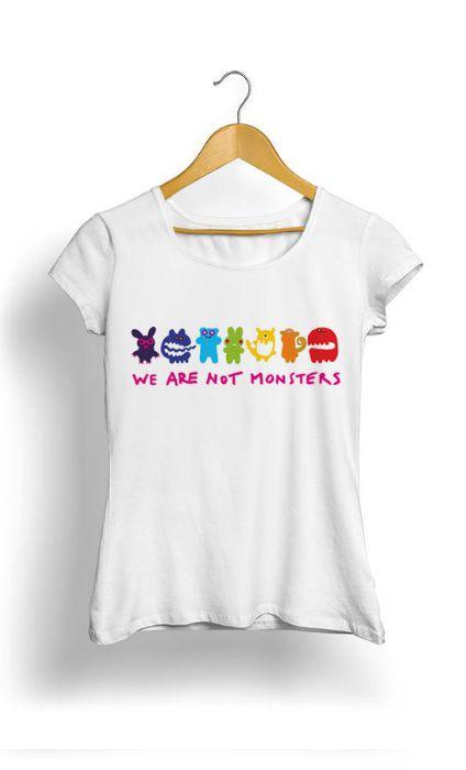Camiseta Feminina Tropicalli We Are Not Monsters