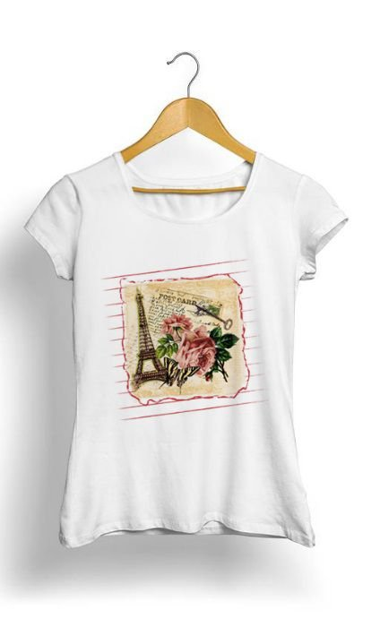 Camiseta Feminina Tropicalli Paris Postcard