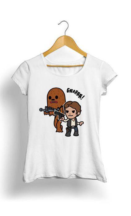 Camiseta Feminina Tropicalli Han & Chewy