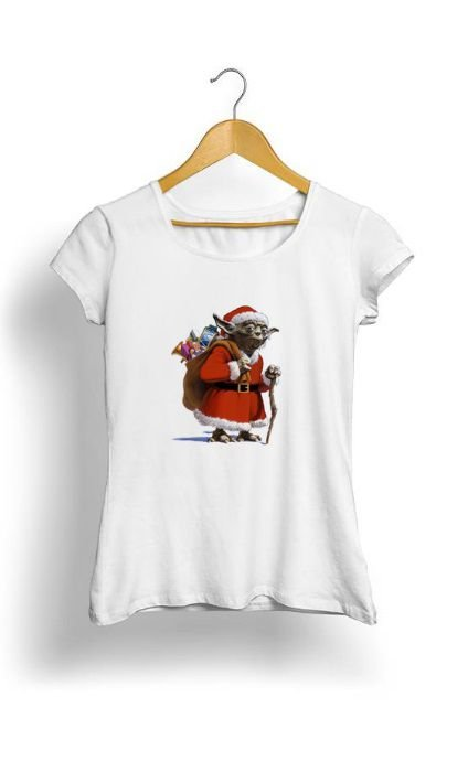 Camiseta Feminina Tropicalli Santa Yoda