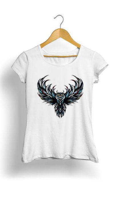 Camiseta Feminina Tropicalli Owl
