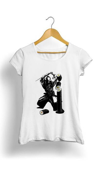 Camiseta Feminina Tropicalli Sushi Slasher