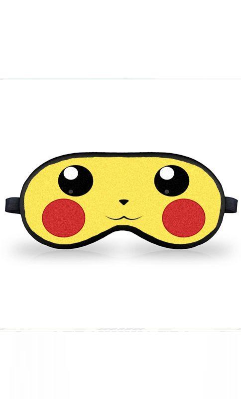 Máscara de Dormir PIKACHU - Nerd e Geek - Presentes Criativos