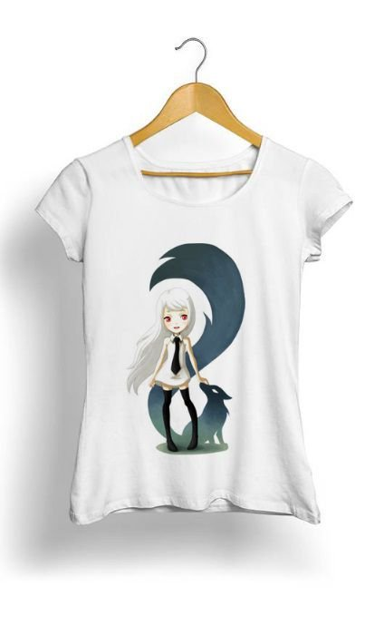 Camiseta Feminina Tropicalli Fox Daemon