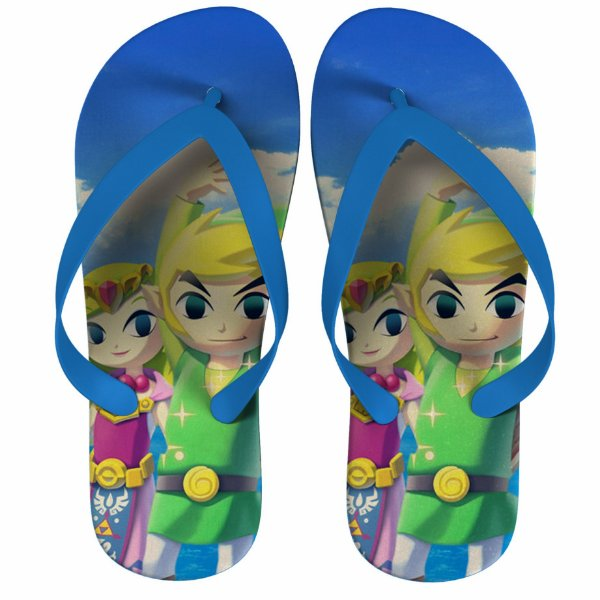 Chinelo Green The Legend Of Zelda : Link and Princess - Nerd e Geek - Presentes Criativos