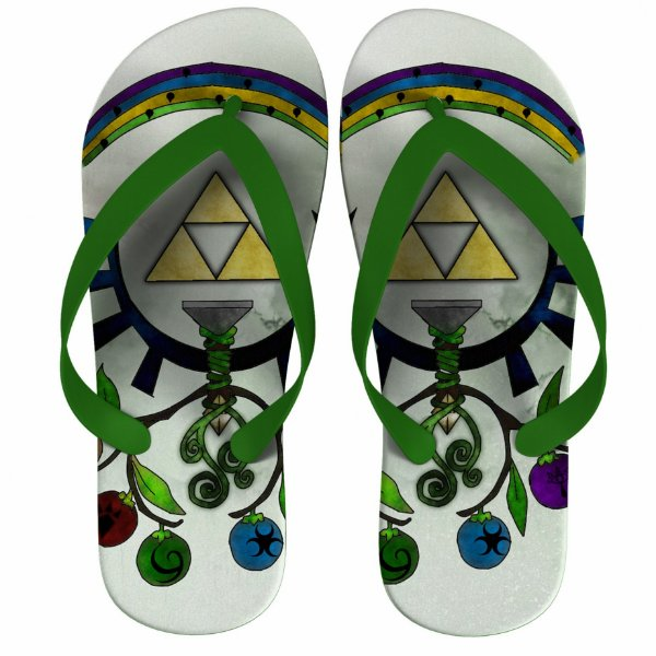 Chinelo The Legend Of Zelda Triforce - Nerd e Geek - Presentes Criativos