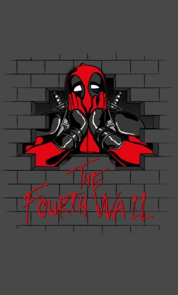 Camiseta Dead Pool  The Fouth Wall