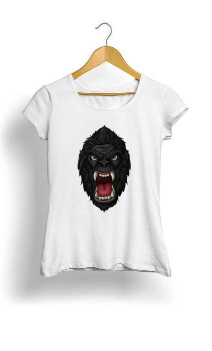 Camiseta Feminina Tropicalli Macaco