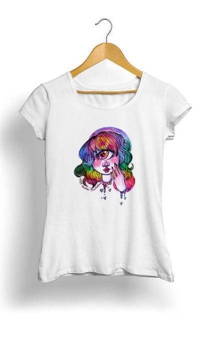 Camiseta Feminina Tropicalli Gore Cute