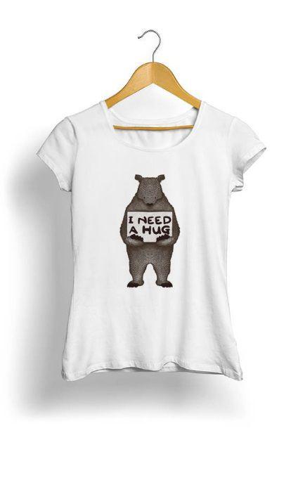 Camiseta Feminina Tropicalli I Need a Hug