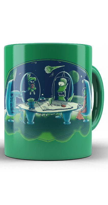 Caneca Futurama - Aliens - Nerd e Geek - Presentes Criativos