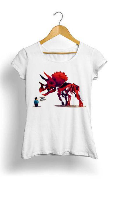 Camiseta Feminina Tropicalli Pet Dinosaur