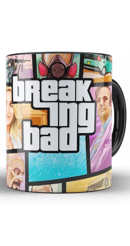 Caneca Breaking Bad GTA - Nerd e Geek - Presentes Criativos