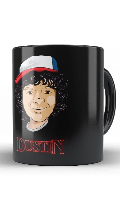 Caneca Stranger Things  Dustin - Nerd e Geek - Presentes Criativos