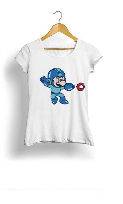 Camiseta Feminina Tropicalli Mega Mario