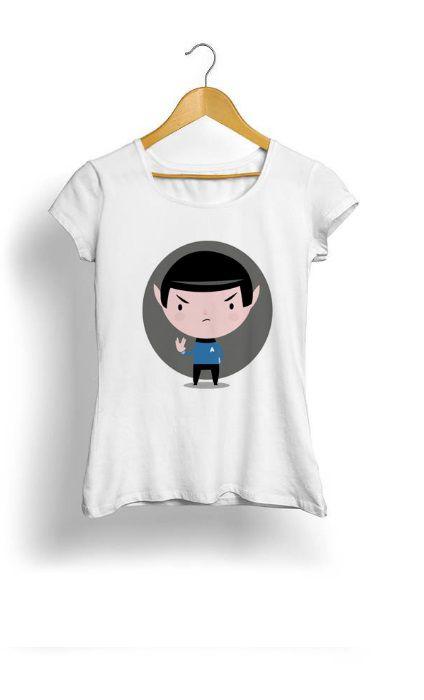 Camiseta Feminina Tropicalli Star trek spock